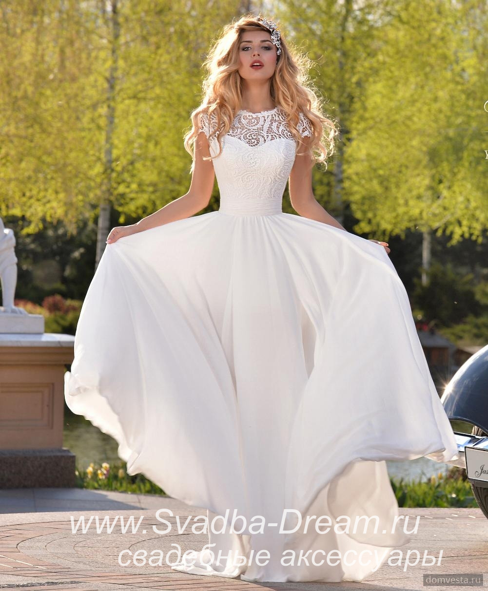 193ad4954b6 Свадебное платье бохо бежевое из шифона Jasmine Empire