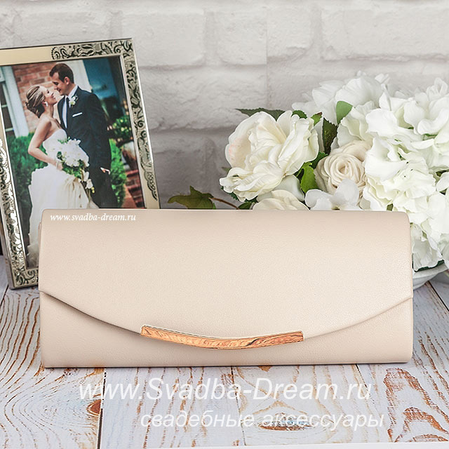 66d36675247b Клатч для невесты на свадьбу цвета карамели