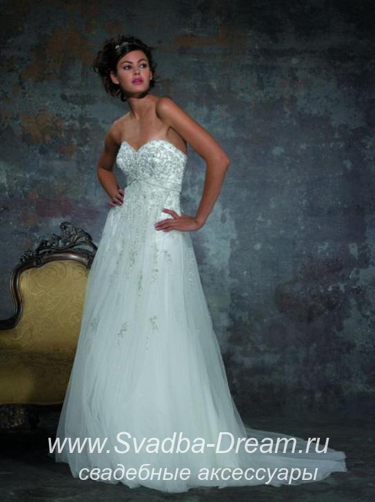 67a16ca246b Свадебное платье прямое айвори из атласа и шифона C109